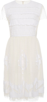 RED Valentino Embroidered Tulle Applique Dress