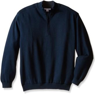 Cutter & Buck Men's Big Broadview Half Zip Sweater