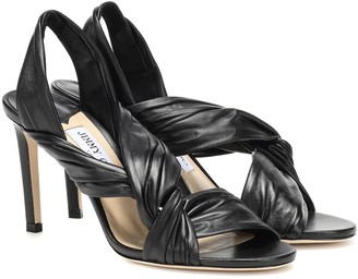 Jimmy Choo Lalia 85 leather sandals