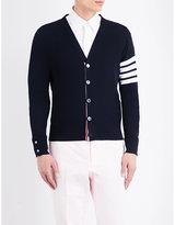 Thom Browne Striped-sleeve Merino Wool Cardigan