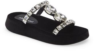 Jeffrey Campbell Zhao Crystal Embellished Slide Sandal