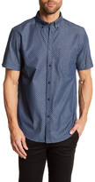Ben Sherman Diamond Chambray Short Sleeve Slim Fit Shirt