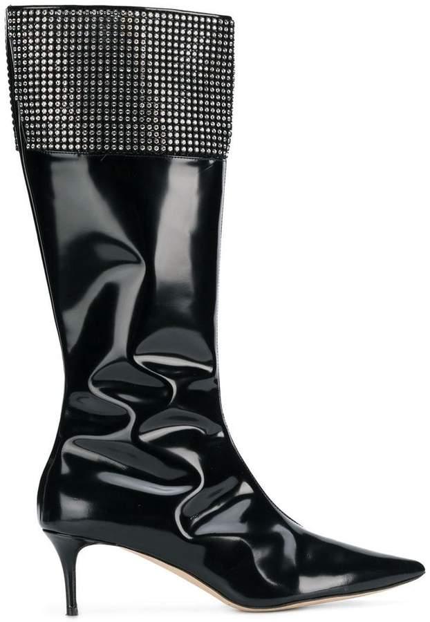 Christopher Kane crystal mesh high boot