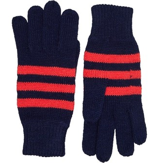 Board Angels Womens Striped Gloves French Navy/Raspberry