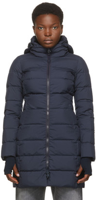 Herno Navy Down Gore-Tex Windstopper Long Jacket