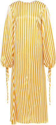 Olivia von Halle Margeaux Striped Silk-satin Kaftan