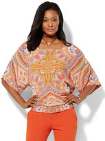 New York & Co. Dolman-Sleeve Blouse - Print