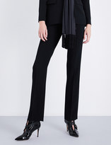 Givenchy Straight cropped stretch-crepe trousers