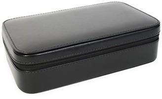 Royce New York Leather Zippered Travel Jewelry Case