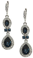 Givenchy Pear-Shaped Pave Crystal Double Drop Earrings