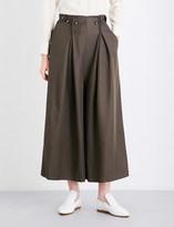 Sportmax Roberta wide-leg twill trousers