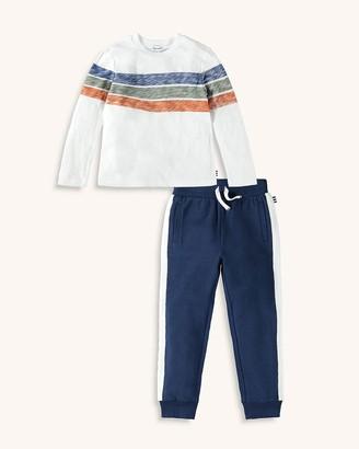 Splendid Little Boy Reverse Tri-Stripe Top Set