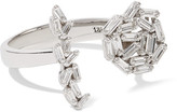 Suzanne Kalan 18-karat White Gold Diamond Ring - 5