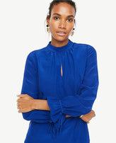 Ann Taylor Silk Tie Sleeve Blouse
