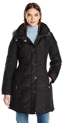 Anne Klein Women's Mid Length Down Coat