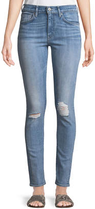 Levi's 721 Distressed Skinny-Leg Jeans