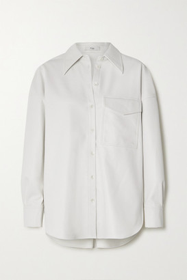 Tibi Faux Leather Shirt - White