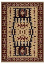 "Orian Rust Tribal Woven Area Rug - (5'3""X7'6"")"