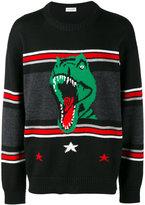 Saint Laurent T-rex patterned jumper - men - Wool - XL
