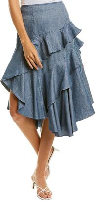 AMUR Winslow Linen-Blend Skirt