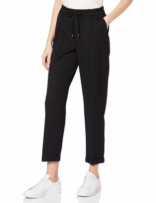 Dorothy Perkins Women's Black Formal Joggers Work Utility Pants 12