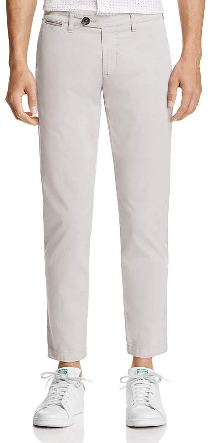 Eleventy Cropped Regular Fit Chino Pants