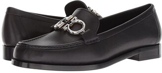 Salvatore Ferragamo Rolo Loafer (Nero) Women's Slip on Shoes