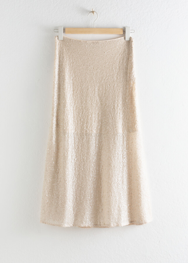 Thumbnail for your product : And other stories Sequin Embellished Midi Skirt