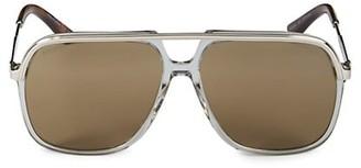 Gucci 57MM Rectangular Sunglasses