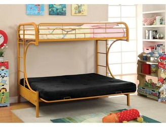Zoomie Kids Quezada Twin Over Twin Futon Bunk Bed Bed Frame Color: Orange