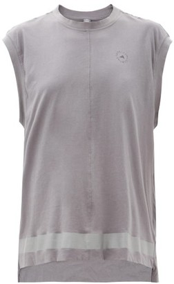 adidas by Stella McCartney Logo-print Organic-cotton Tank Top - Grey
