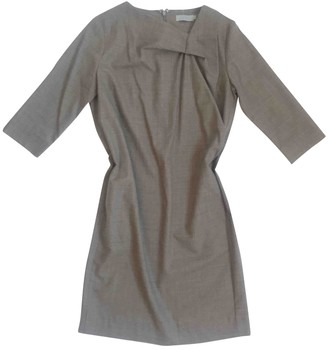 Cos Brown Wool Dress for Women