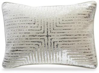 Callisto Home Fes Ivory Metallic Foil Velvet Down Pillow