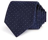 Theory Textured Ground Stripe Dot Skinny Tie