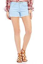 Celebrity Pink Frayed Hem Stretch Denim Shorts