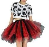 YSJ Women's Tutu Tulle Mini A-Line Petticoat Prom Party Skirt Fun Skirts (XL, )