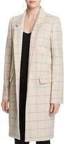 Calvin Klein Windowpane Car Coat
