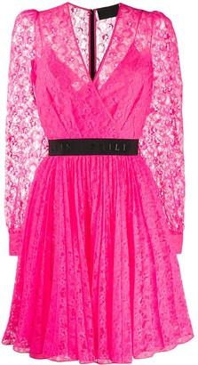 Philipp Plein Lace Wrap Front Dress