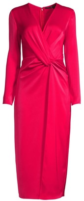 Jay Godfrey Slim-Fit Satin Gathered Dress