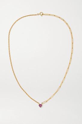 Yvonne Léon 18-karat Gold Rhodolite Necklace - one size