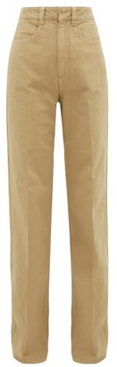 Lemaire High-rise Wide-leg Jeans - Womens - Camel