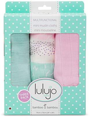 Camilla And Marc Wraps Baby l2-lj210 Set of 3 Variegated Covers, Bamboo Muslin, Pink, 70 x 70 cm