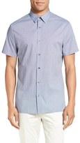 Vince Men's 'Melrose' Trim Fit Microcheck Shirt