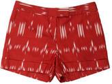 Derek Lam 10 Crosby Linen-Blend Printed Shorts
