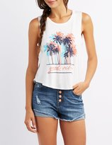 Charlotte Russe Good Vibes Graphic Tank Top