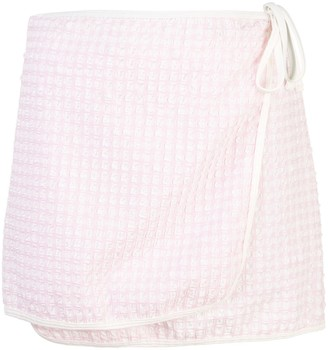 Solid & Striped The Wrap gingham mini skirt