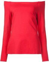 L'Agence off-shoulders longsleeved blouse