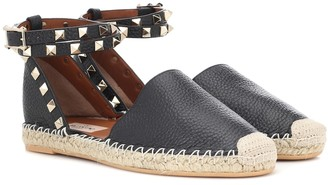 Valentino Rockstud Double leather espadrilles