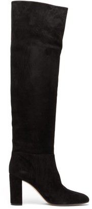 Gianvito Rossi Melissa 85 Knee-high Suede Boots - Black