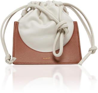 Yuzefi Pouchy Two-Tone Leather Bucket Bag